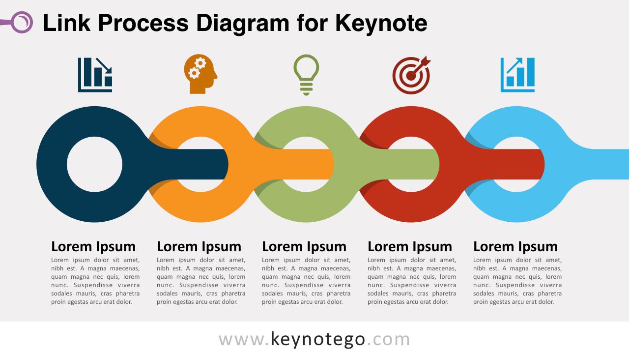 Link Process Diagram Keynote Template