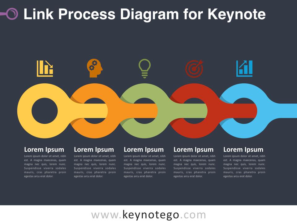 Link Process for Keynote - Dark Background
