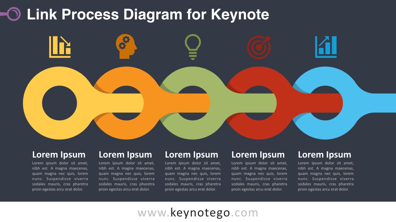 Link Process Keynote Template - Dark Background