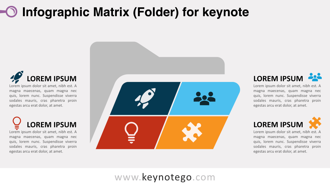 Matrix Folder Keynote Template