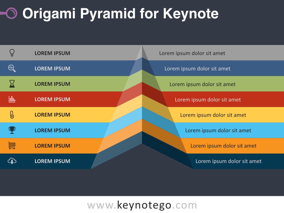 Origami Pyramid for Keynote - Dark Background