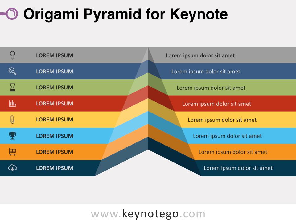 Origami Pyramid for Keynote