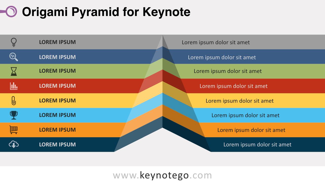 Origami Pyramid Keynote Template