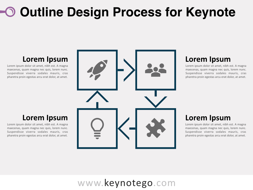 Outline Design Process 1 Color for Keynote