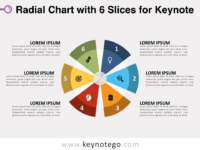 Radial Chart 6 Slices for Keynote