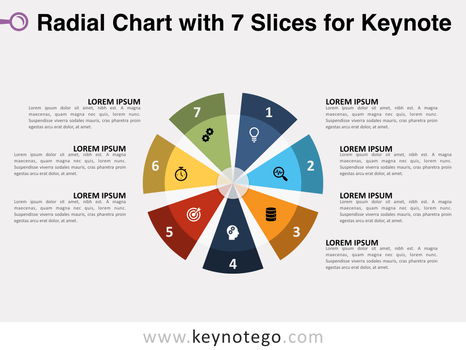 Radial Chart 7 Slices for Keynote