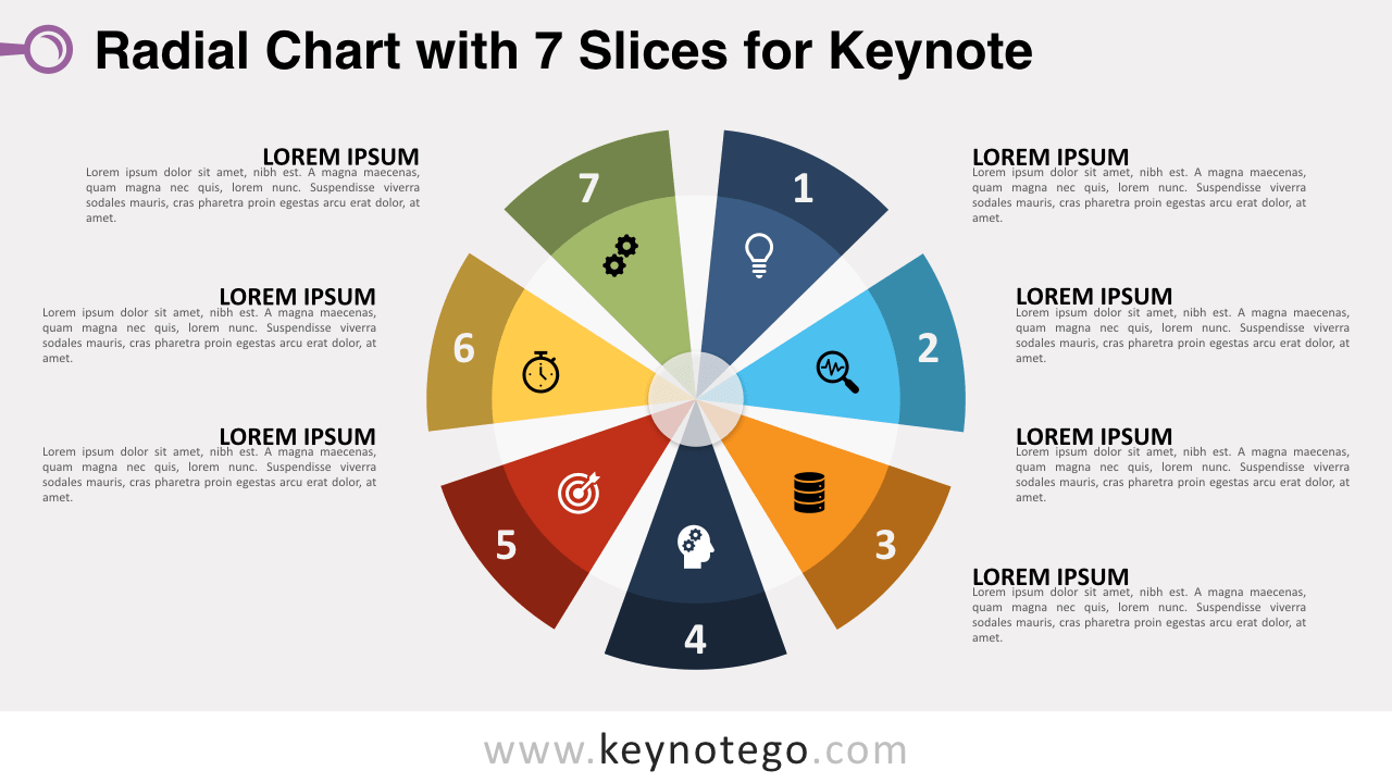 Radial Chart 7 Slices Keynote Template