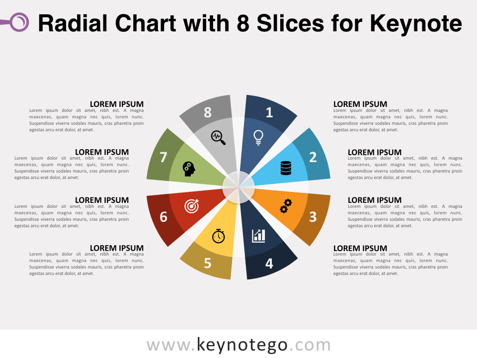 Radial Chart 8 Slices for Keynote