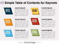 Simple Table Contents for Keynote