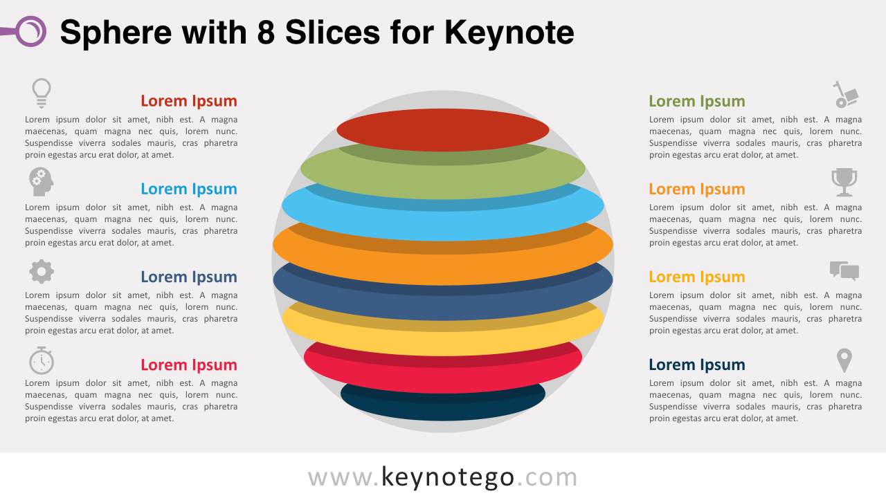 Sphere 8 Slices Keynote Template