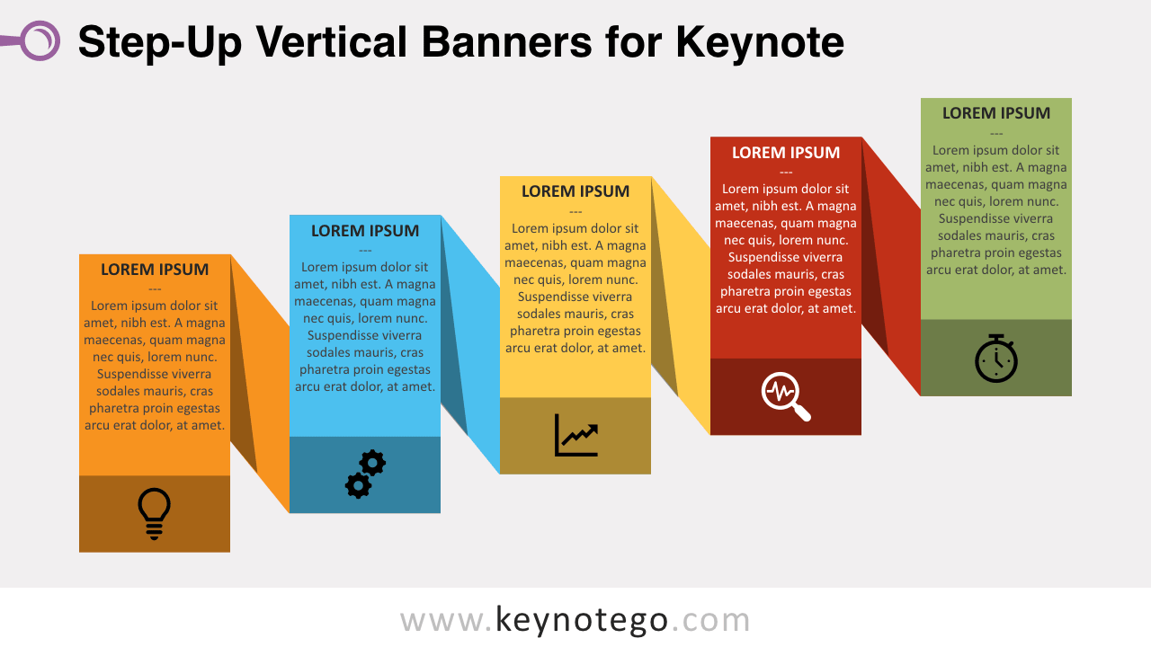 Step-Up Banners Keynote Template