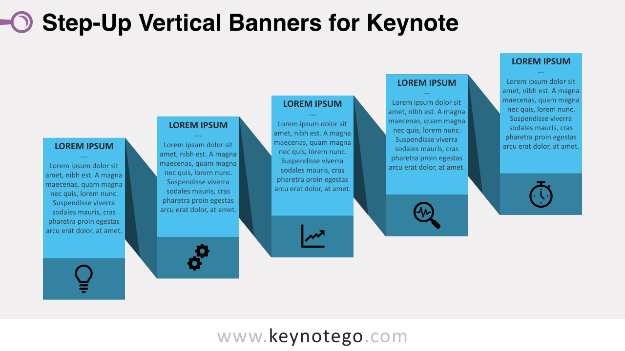 Step-Up Process 1 Color Keynote Template