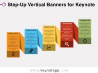 Step-Up Vertical Banners for Keynote