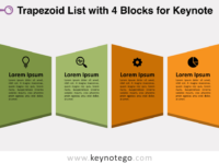 Trapezoid List 4 Blocks for Keynote