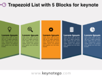 Trapezoid List 5 Blocks for Keynote
