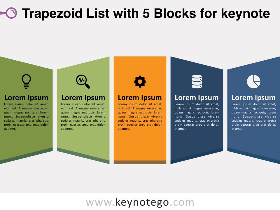 Trapezoid List 5 Blocks for Keynote