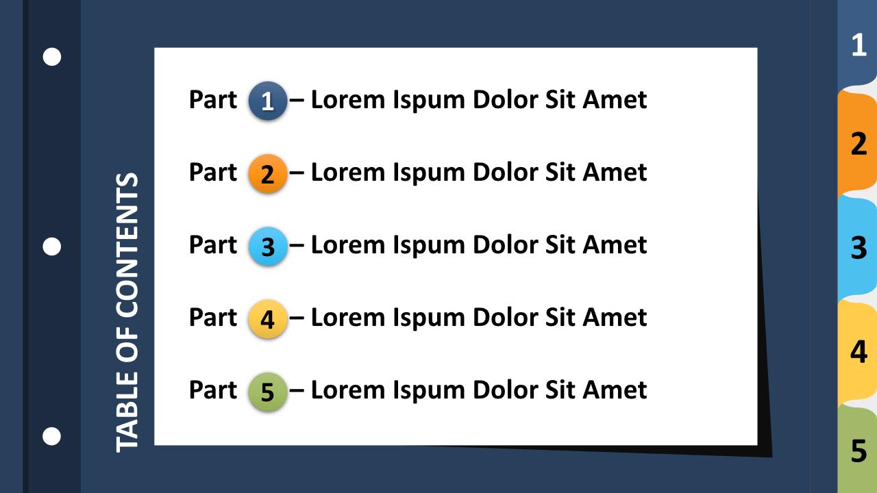Free 5-Tab Binder Dividers Keynote Template - Slide 1