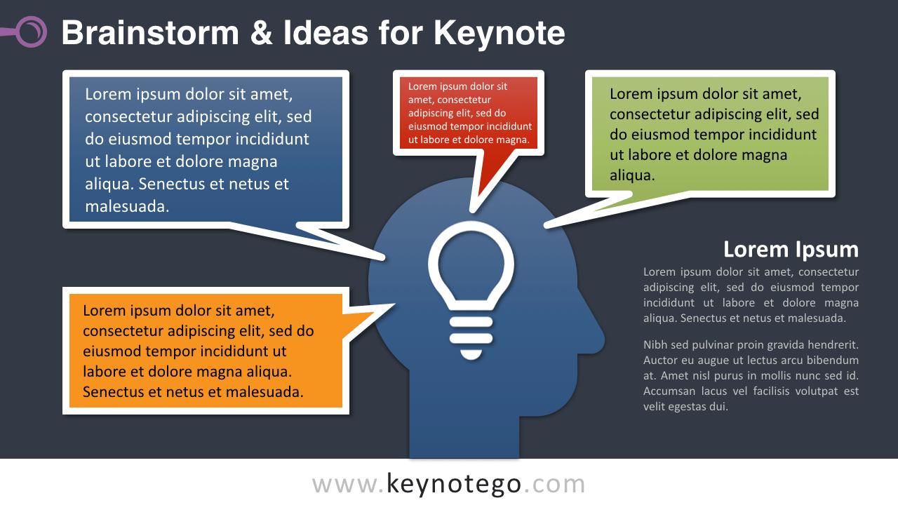 Free Brainstorm Ideas Keynote Slide Template