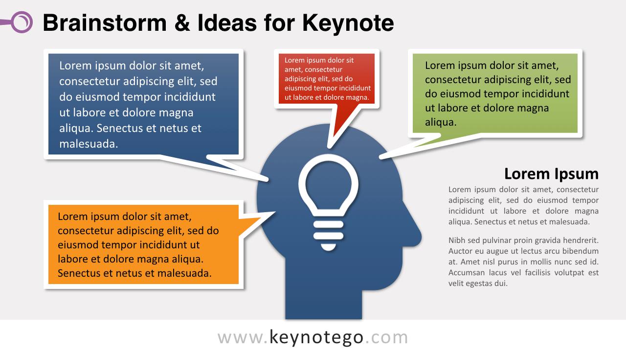 Free Brainstorm Ideas Keynote Slide