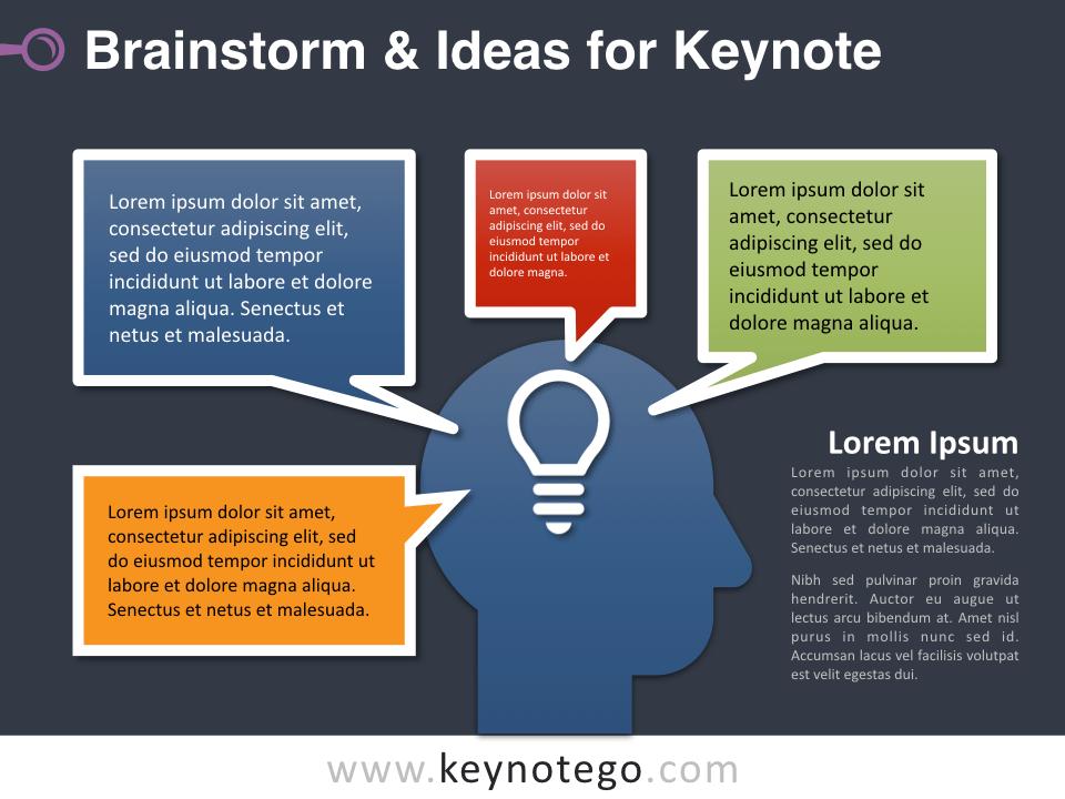 Free Brainstorm Ideas Keynote Template