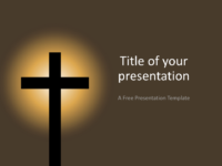 Free Christian Cross Template for Keynote