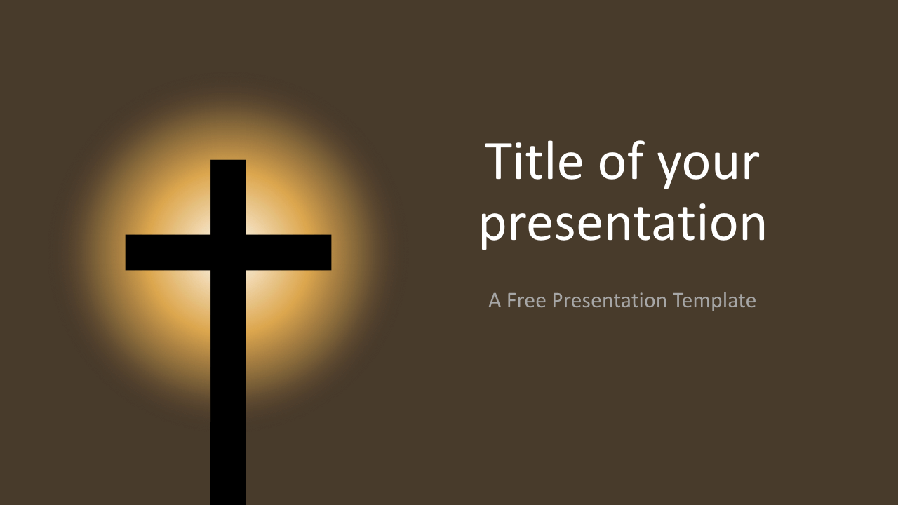 Free Christian Cross Template for Keynote