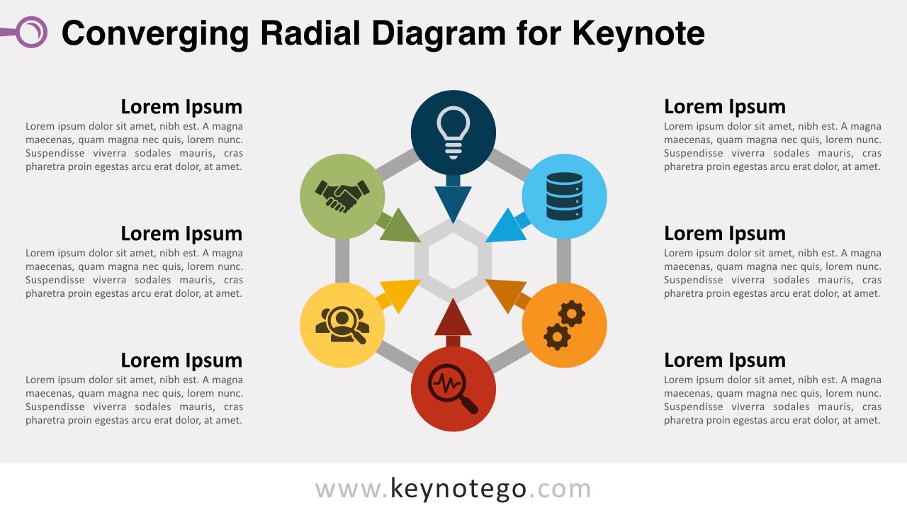 Free Converging Radial Diagram Keynote Template