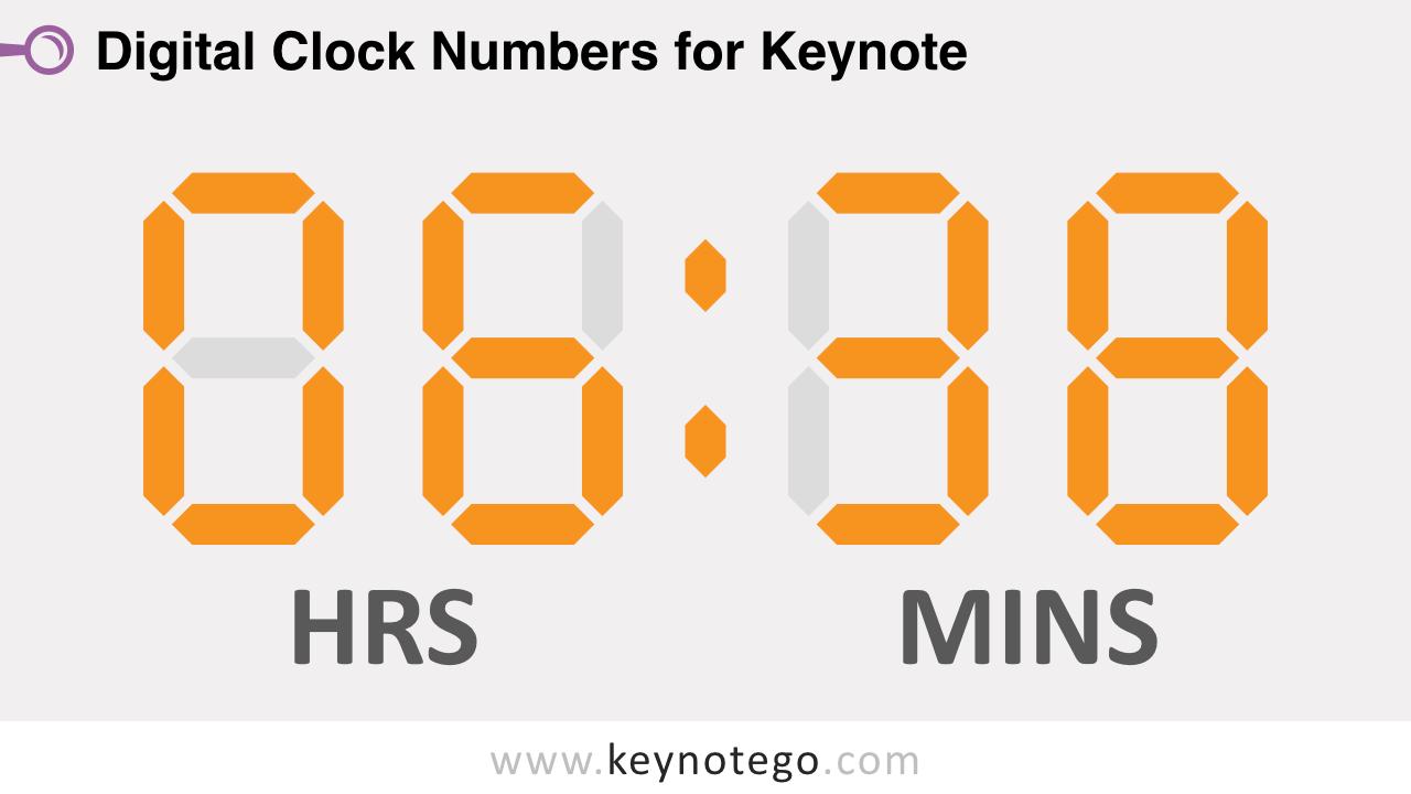Free Digital Clock Numbers Keynote Template