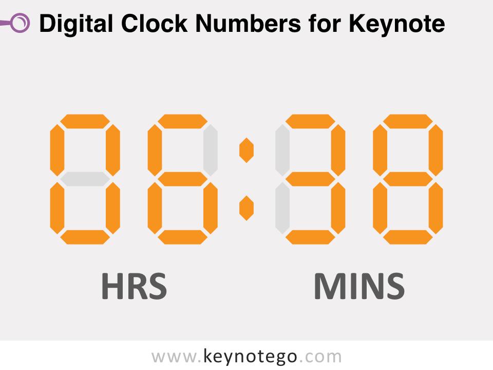 Free Digital Clock Numbers for Keynote