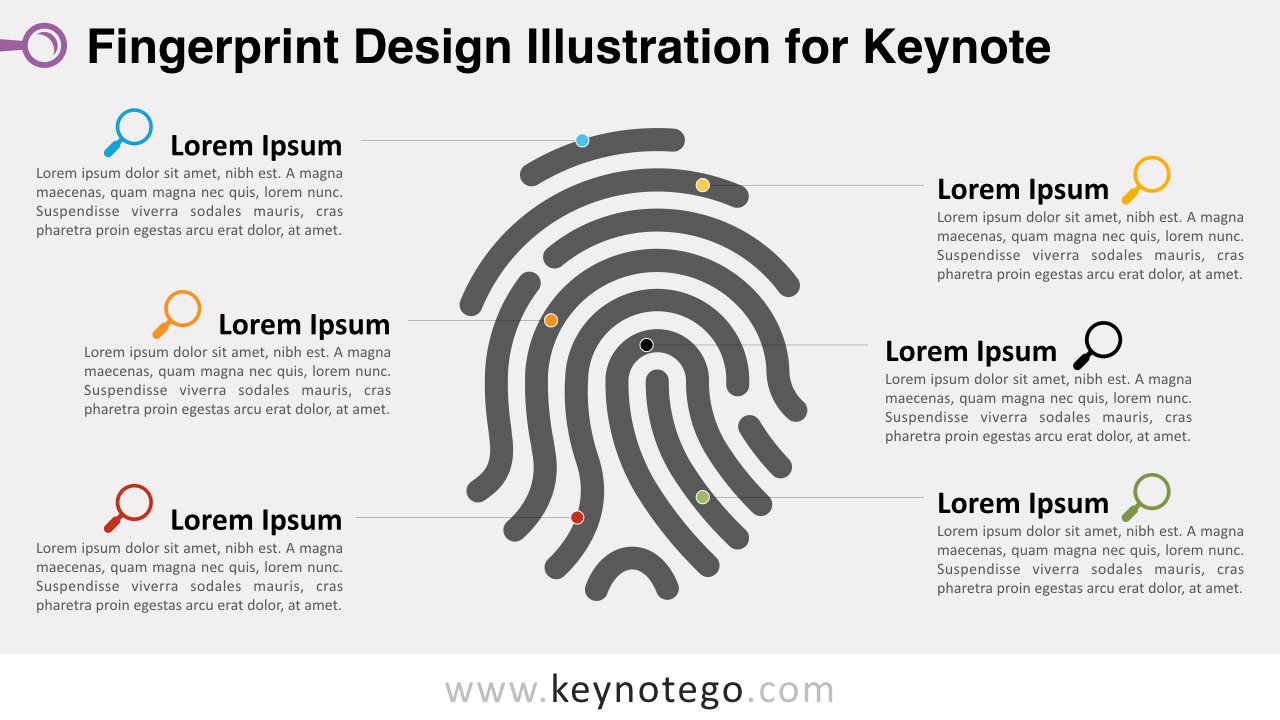 Free Fingerprint Design Illustration Keynote Template