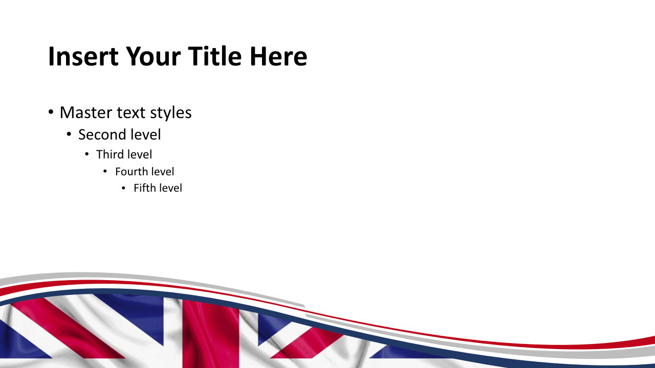 Free UK Flag Keynote Template - Slide 2