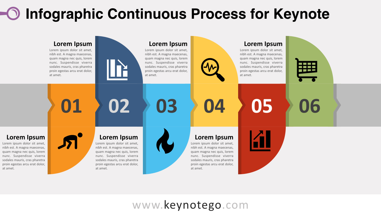 Free Infographic Continuous Process Keynote Template