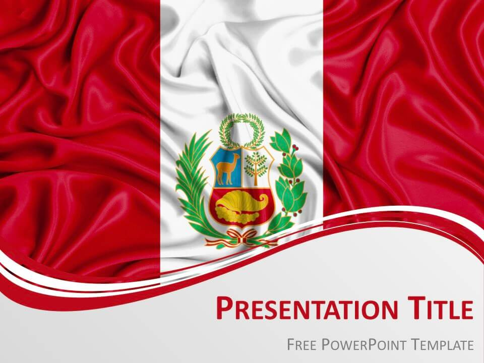 Free Peru Flag Keynote Template