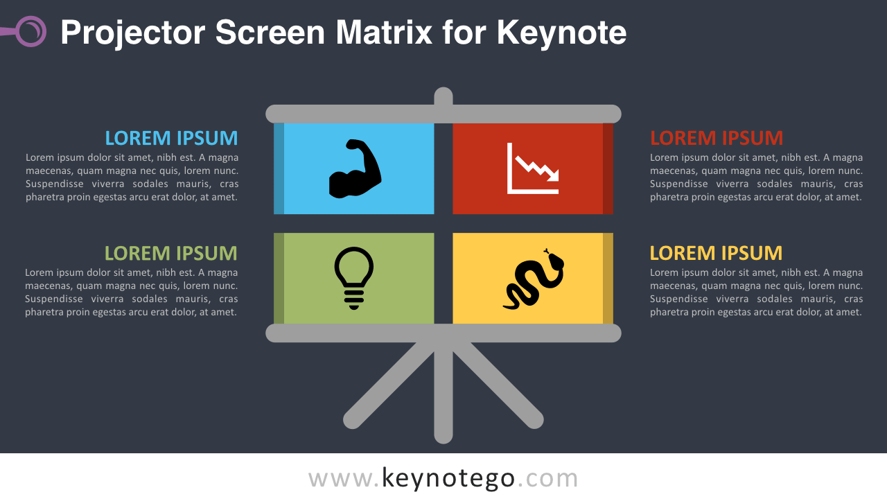 Free Projector Screen Matrix Keynote Slide Template