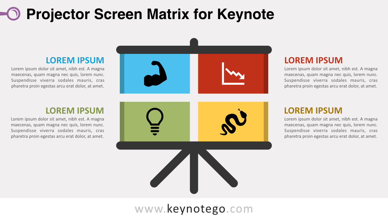 Free Projector Screen Matrix Keynote Slide