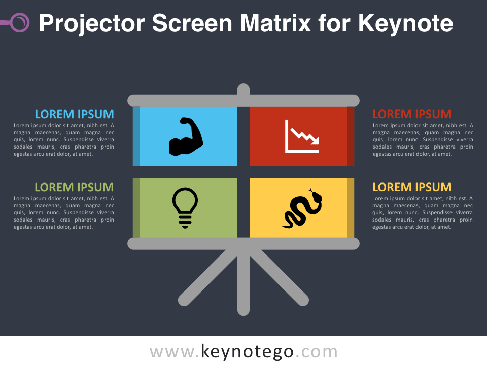 Free Projector Screen Matrix Keynote Template