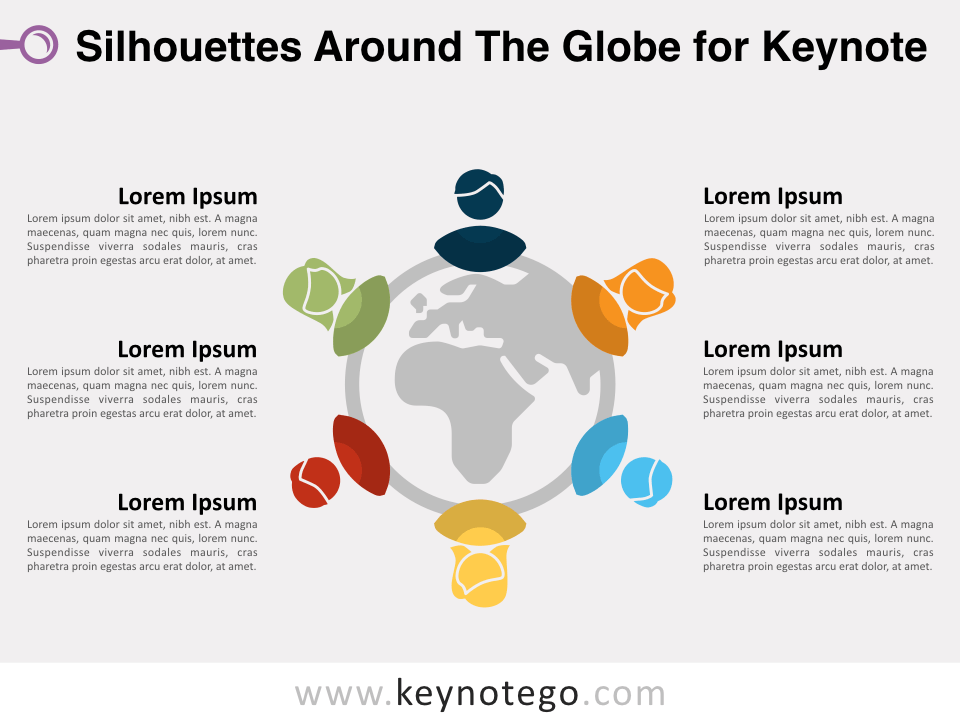 Free Silhouettes around the Globe for Keynote