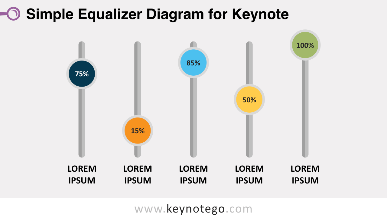 Free Simple Equalizer Diagram Keynote Template