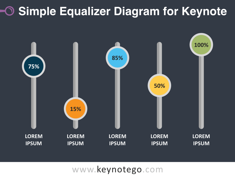 Free Simple Equalizer Diagram Template for Keynote - Dark Background