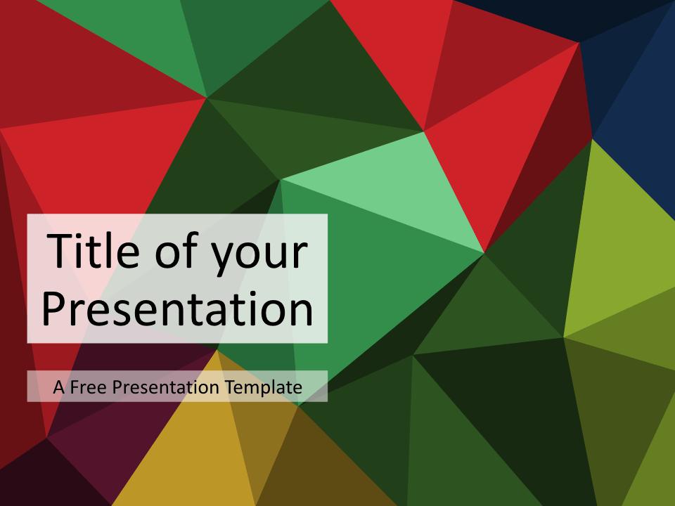 Free Triangle Mosaic Colors Title Slide Keynote