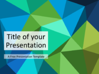 Free Triangle Mosaic Green Title Slide Keynote