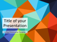 Free Triangle Mosaic Multicolor Title Slide Keynote