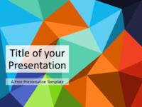 Free Triangle Mosaic Multicolor Title Slide Keynote