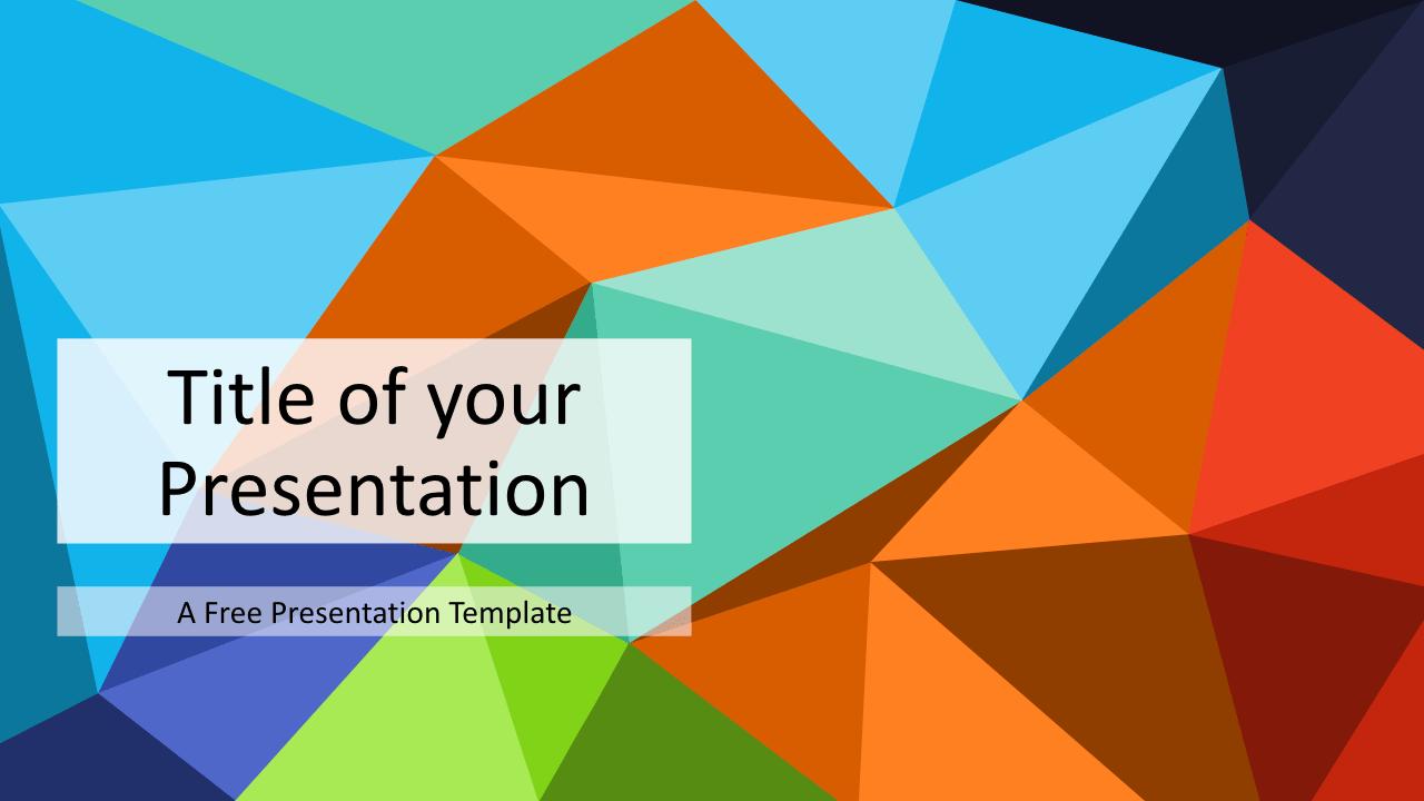 Free Triangle Mosaic Multicolor Title Slide Keynote Template