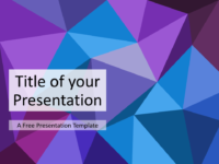 Free Triangle Mosaic Purple Title Slide Keynote