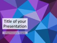 Free Triangle Mosaic Purple Title Slide Keynote