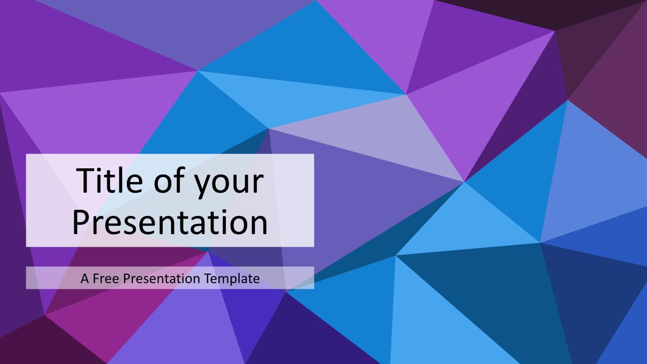 Free Triangle Mosaic Purple Title Slide Keynote Template