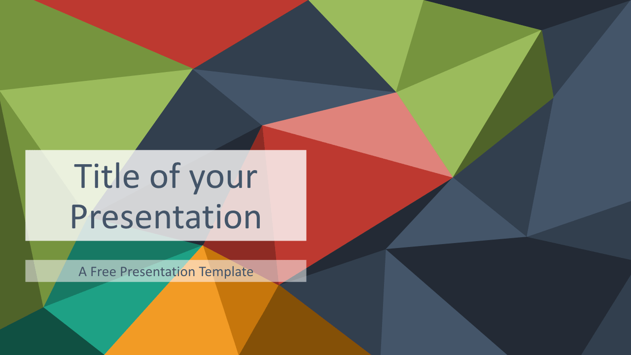Free Triangle Mosaic Title Slide Keynote Template