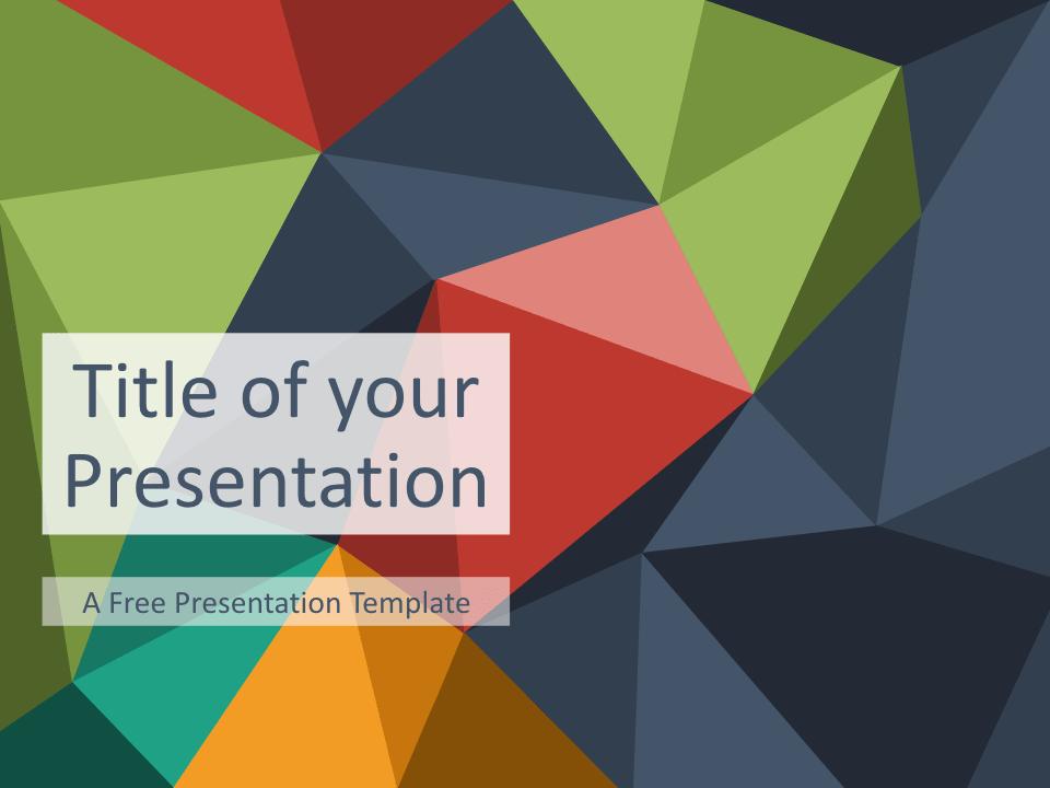 Free Triangle Mosaic Title Slide Keynote