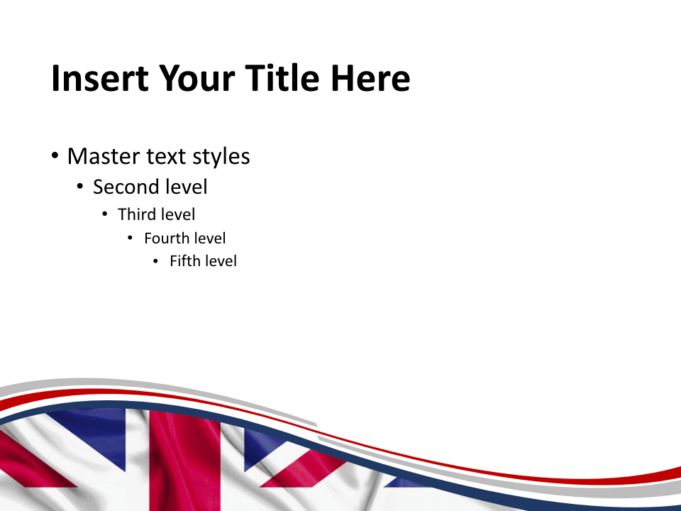 Free UK Flag Keynote Template - Slide2
